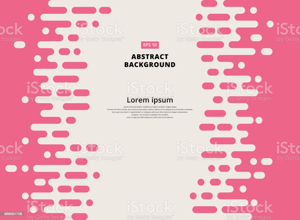 Abstract pink Rounded Lines Halftone Transition vector art illustration