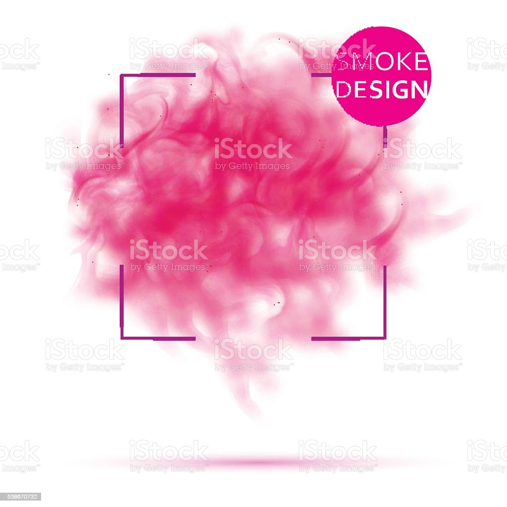 Abstract pink smoke texture template. vector art illustration