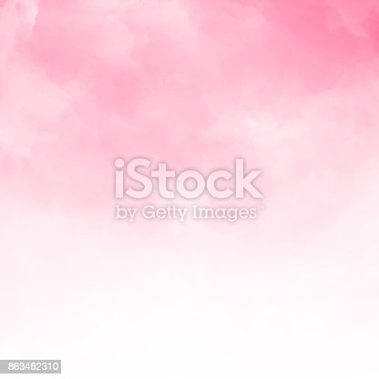 istock Abstract pink watercolor textured background 863482310