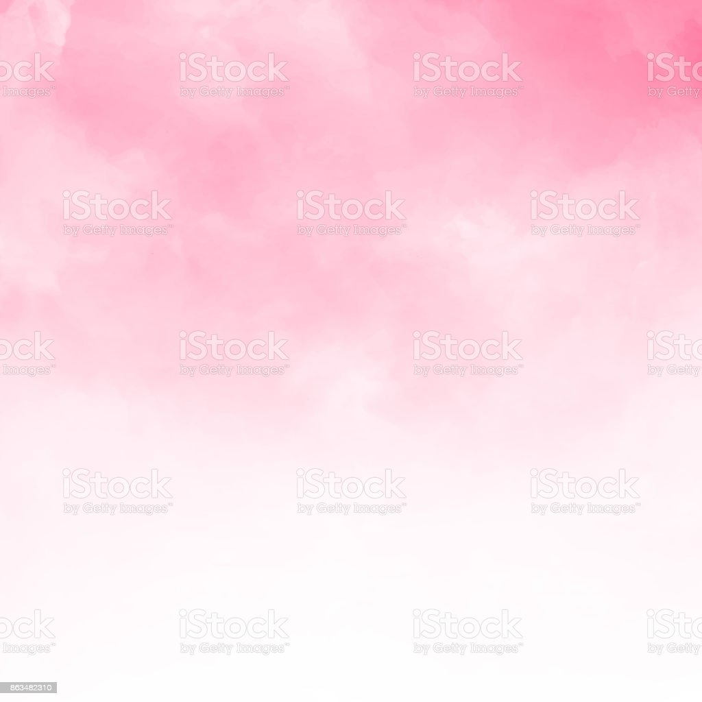 Abstract pink watercolor textured background - ilustração de arte vetorial