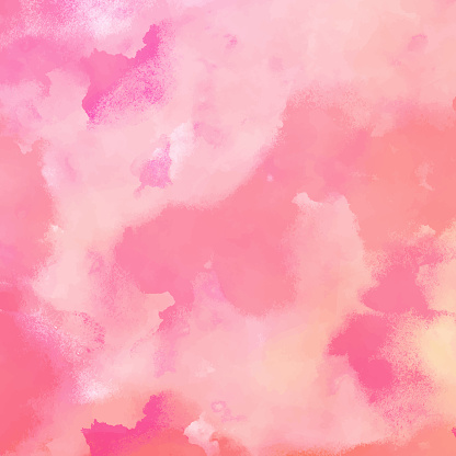 Abstract Pink Watercolour Background with Pastel Color Brush Strokes. Abstract vector pattern. Abstract background texture for cards, party invitation, packaging, surface design.