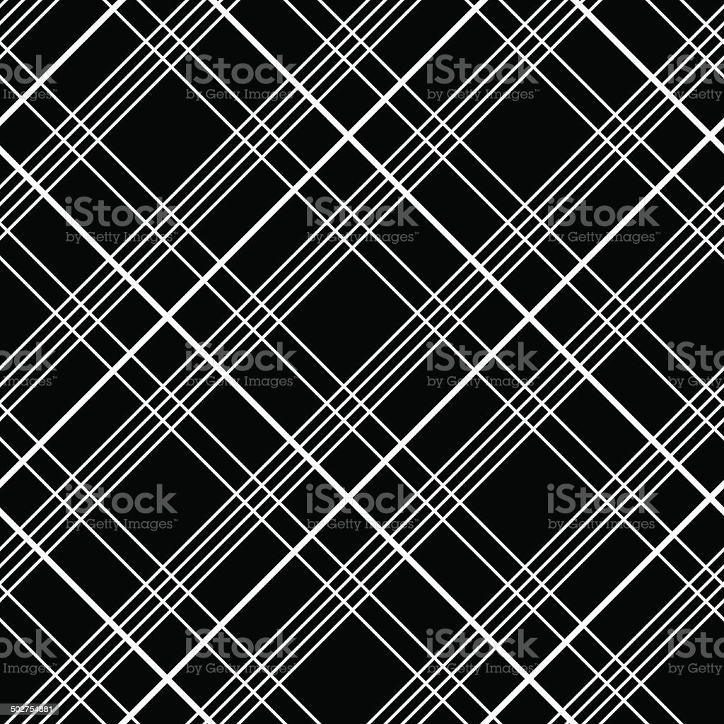 ... Abstract Plaid Fabric Pattern. Checked Material. Seamless Vector Motif.  Vector Art Illustration ...