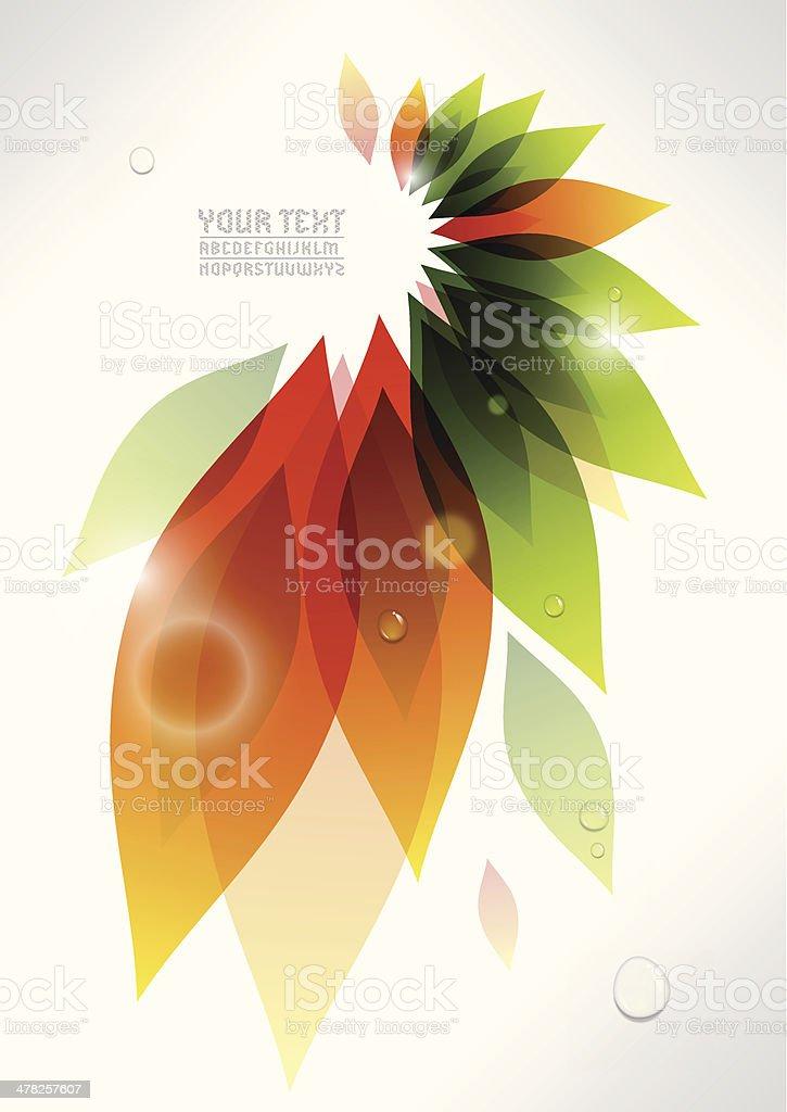 Abstrakte pflanzliche Hintergrund – Vektorgrafik