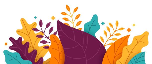 stockillustraties, clipart, cartoons en iconen met abstracte planten grens - bloem plant