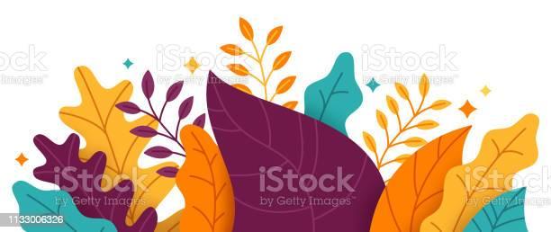 Abstracte Planten Grens Stockvectorkunst en meer beelden van Abstract