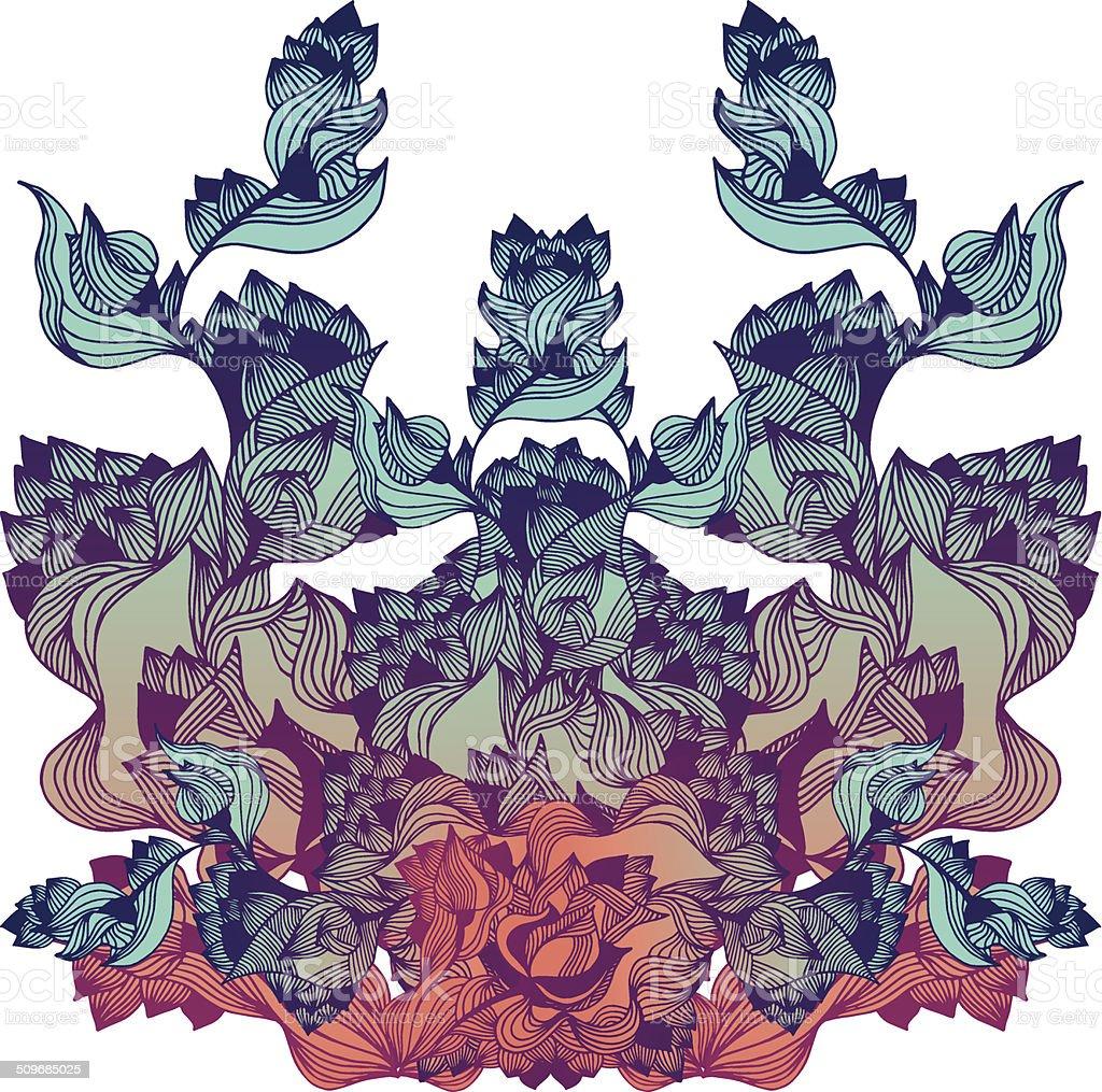 Abstract plant vector art illustration