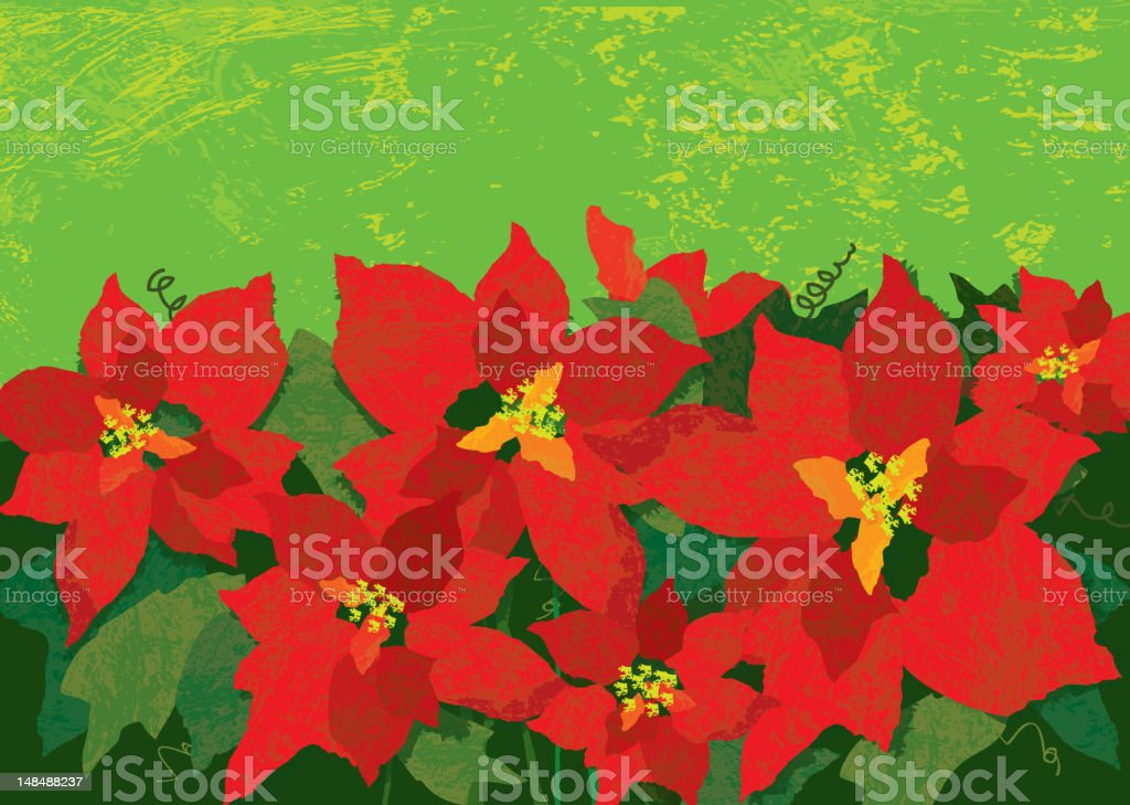 Abstract poinsettia bouquet with textured background royalty-free abstract poinsettia bouquet with textured background stock vector art & more images of abstract