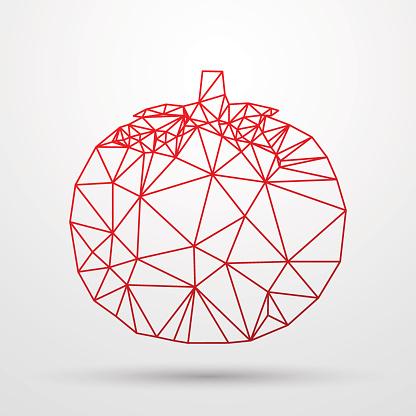 Abstract poligonal Geometric triangle design. Colorfuul line vector illustration