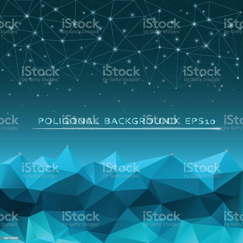 Abstract polygon background vector art illustration