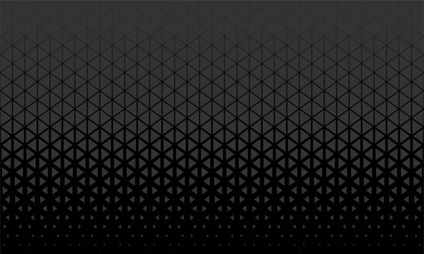 abstract polygon black and grey graphic triangle pattern. - triangle shape stock illustrations