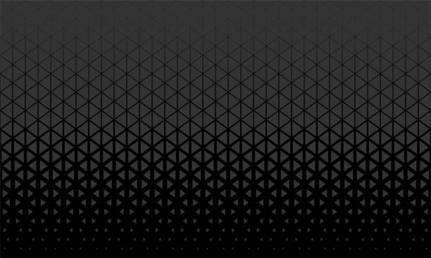 stockillustraties, clipart, cartoons en iconen met abstract veelhoek zwart en grijs grafische driehoek patroon. - driehoek