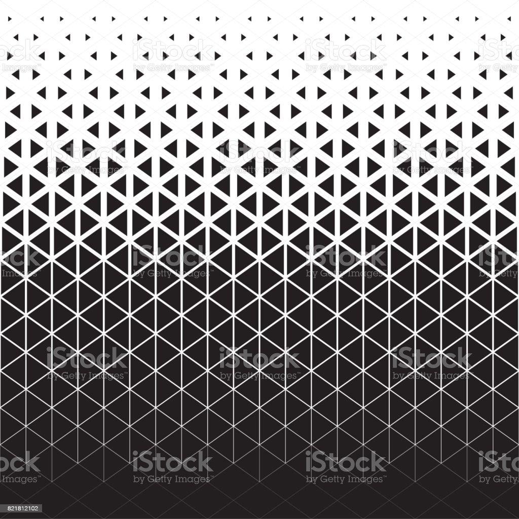 Padrão de abstrata polígono triângulo gráfico preto e branco - ilustração de arte em vetor