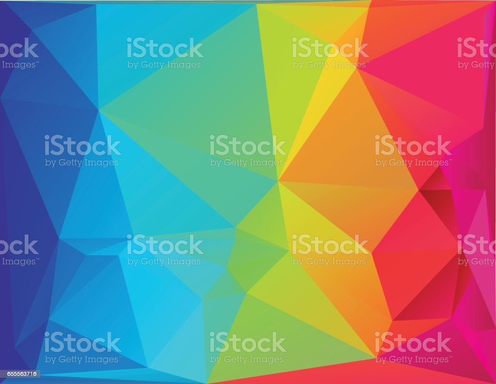 Abstract polygon spectrum background vector art illustration