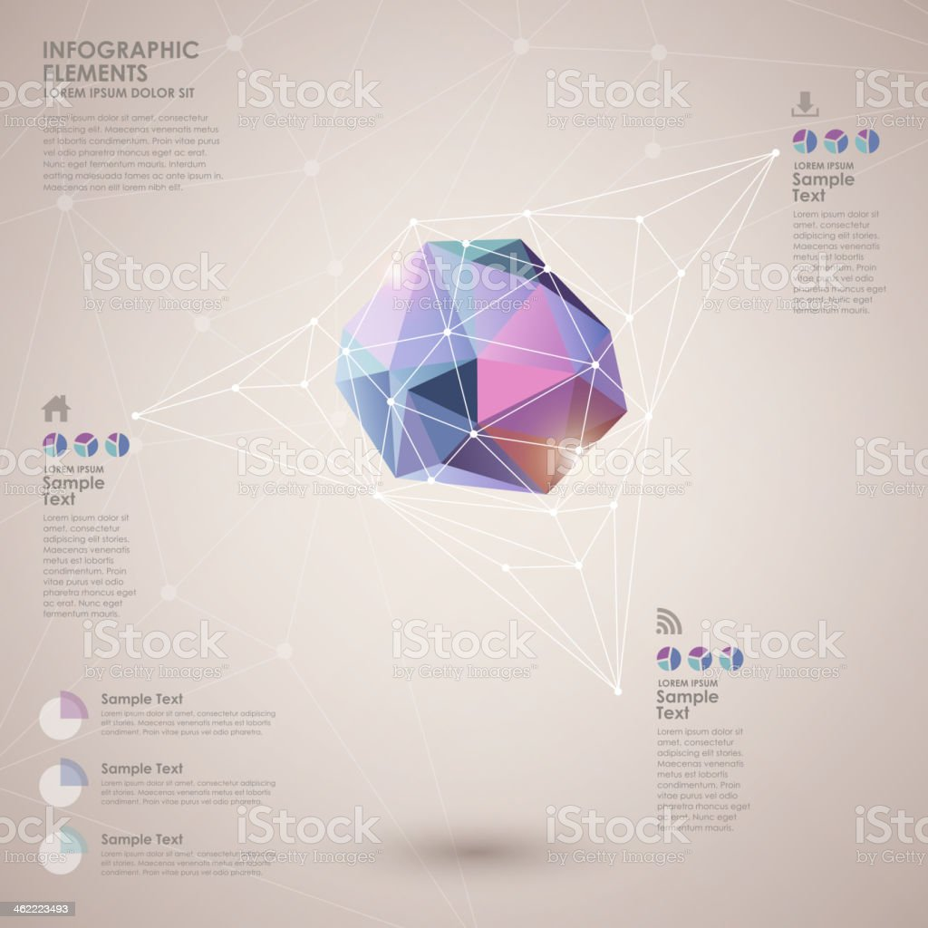 Abstract polygon style infographic