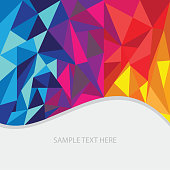 istock Abstract polygon vector and illustration background consisting colorful triangles. 1301748445