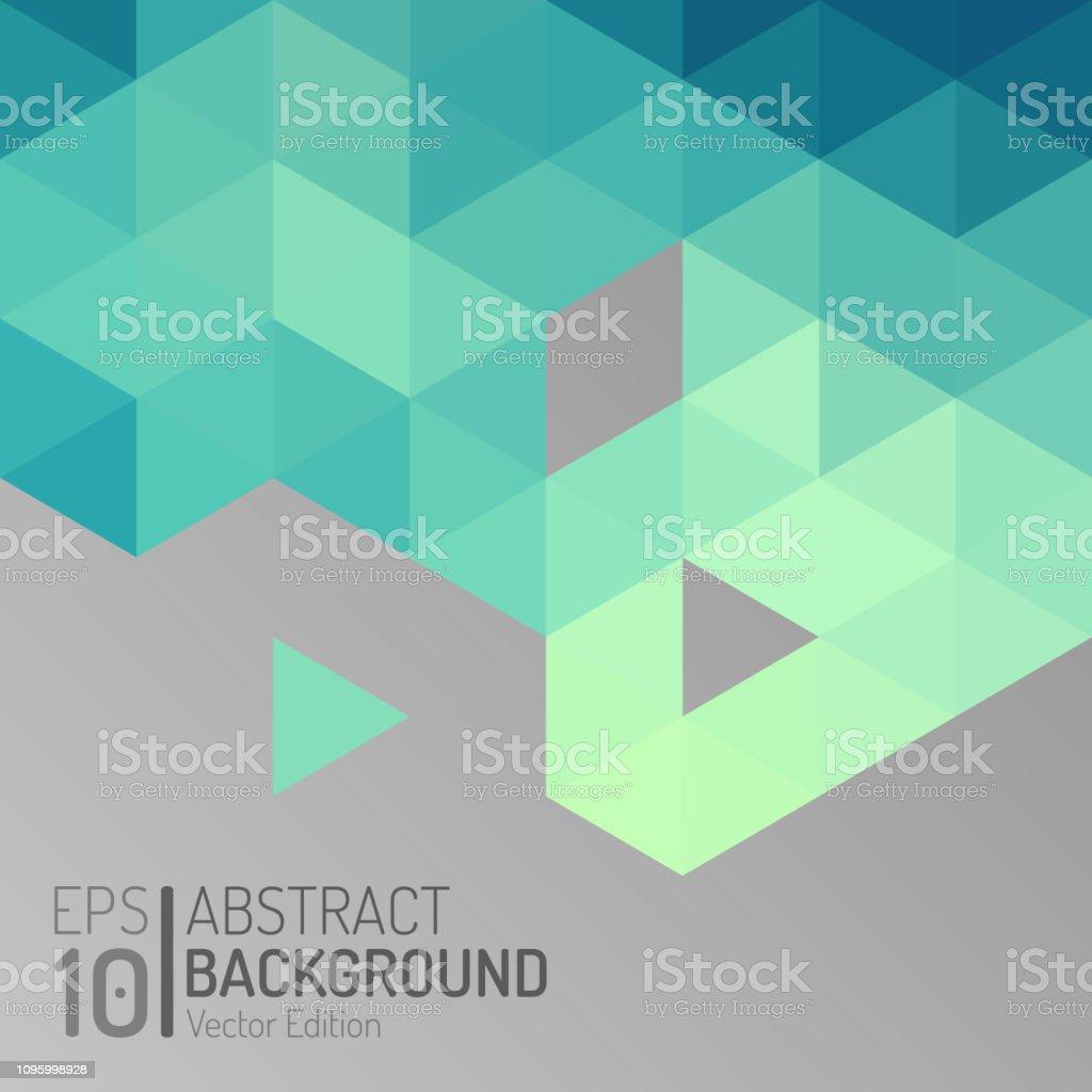 Modelo de papel de parede abstrato polígono. Vector triângulo hexágono fundo geométrico - ilustração de arte em vetor