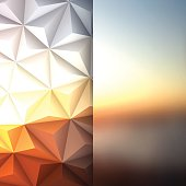 Abstract Polygonal Background for Design - Low Poly, Geometric Vector