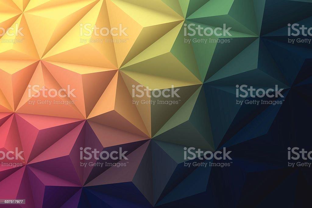 Astratto sfondo poligonale per il Design-bassa poliestere, vettoriale geometrico - arte vettoriale royalty-free di Arte