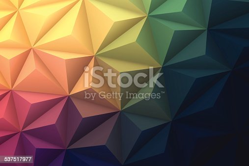 istock Abstract Polygonal Background for Design - Low Poly, Geometric Vector 537517977