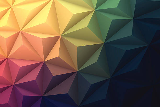 abstract polygonal background for design - low poly, geometric vector - polygon background stock illustrations