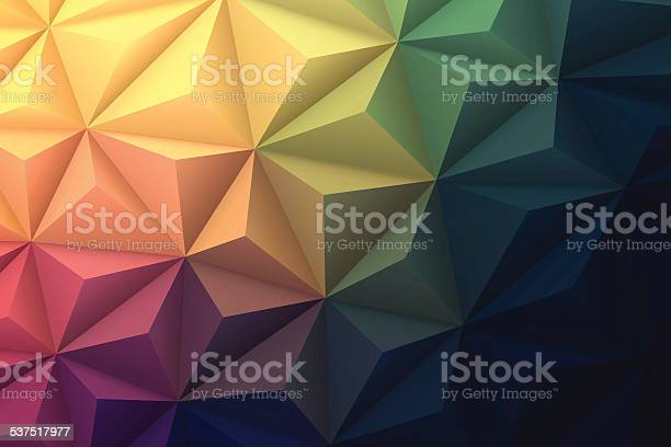 Abstract Polygonal Background For Design Low Poly Geometric Vector Stock Illustration - Download Image Now