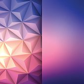 A modern geometric background can be used for design. With space for text.