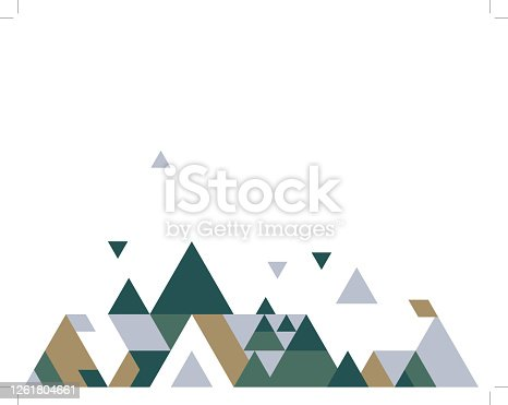 istock Abstract polygonal background 1261804661