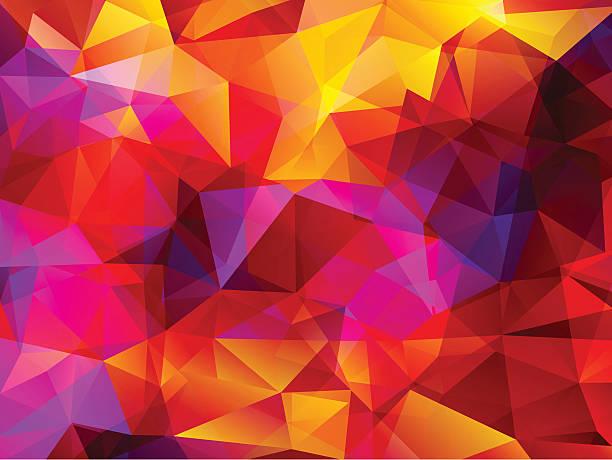 ilustrações, clipart, desenhos animados e ícones de fundo abstrato polygonal - planos de fundo coloridos