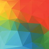 simple vector illustration of abstract polygonal background;eps8;  linear gradient used;  zip includes aics2, high res jpg