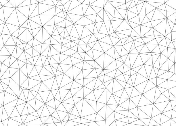 abstract polygonal background - black and white pattern stock illustrations, clip art, cartoons, & icons