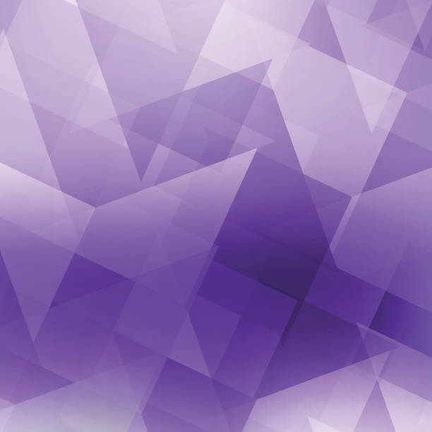abstract polygonal background - пурпурный stock illustrations