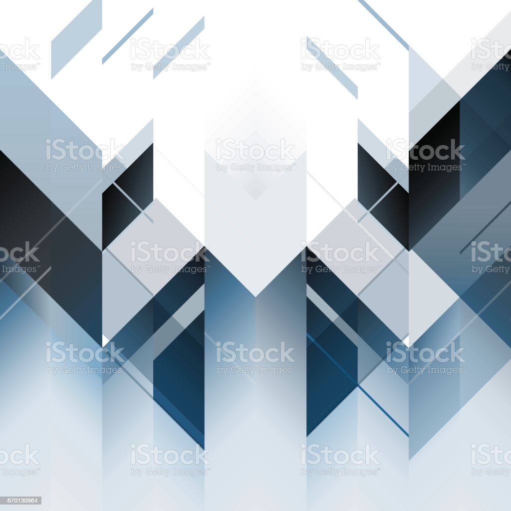 Abstract polygonal blue background. Vector illustration vector art illustration