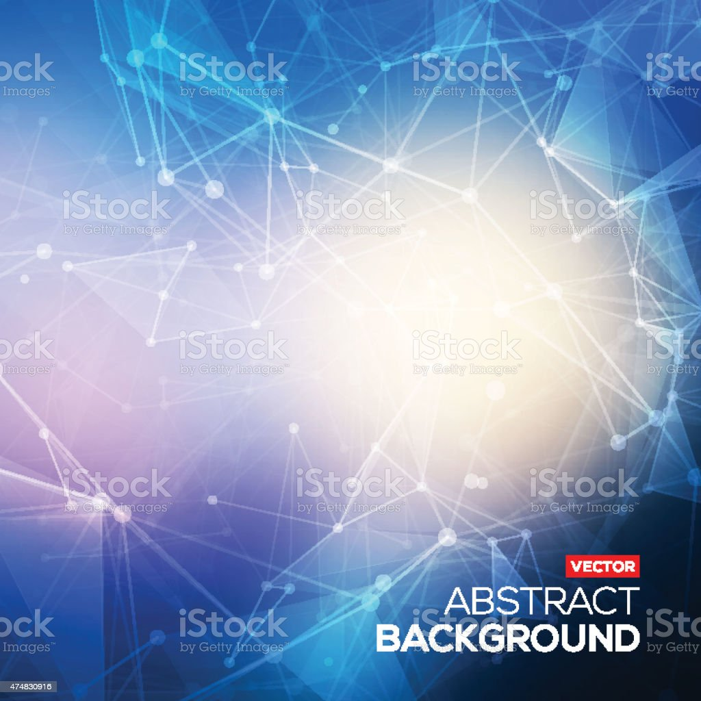 Abstract polygonal blue colorful low poly bright background vector art illustration