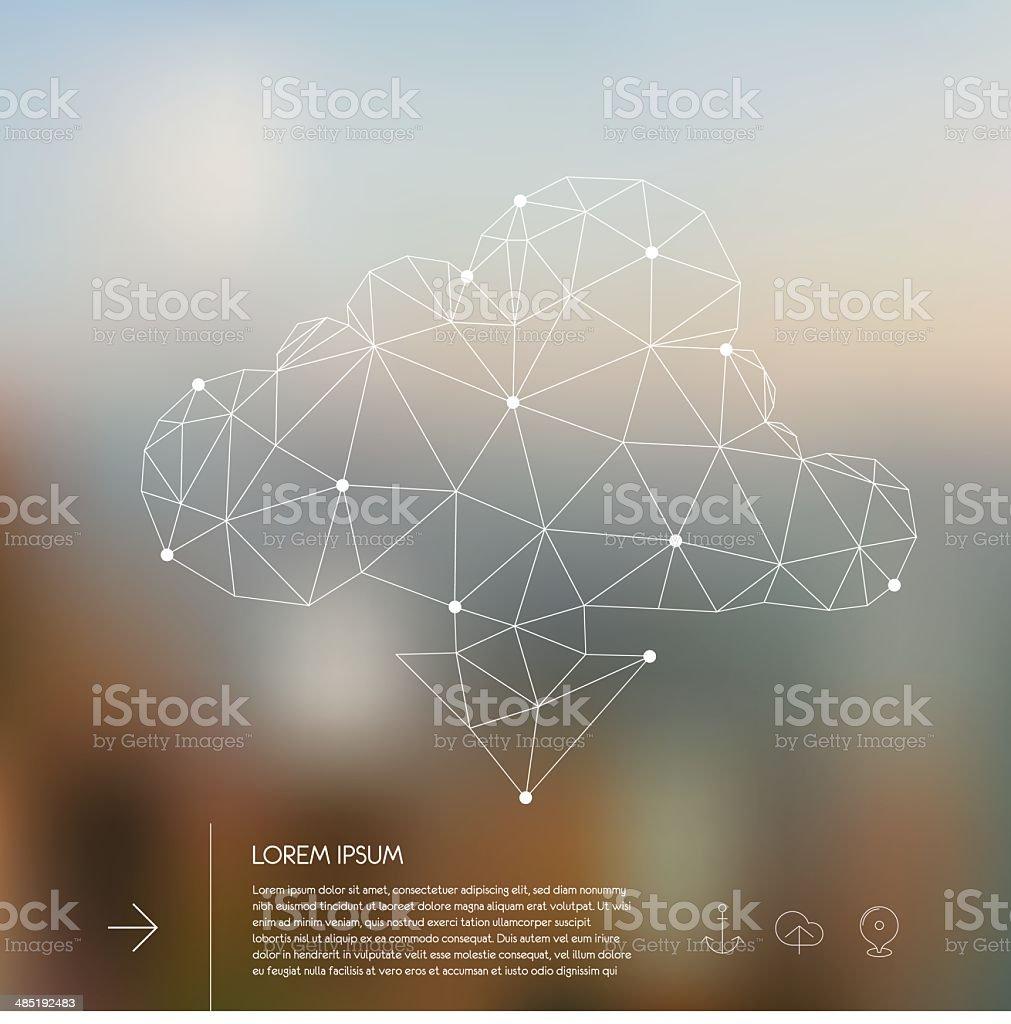 Abstract polygonal cloud concept royalty-free stock vector art