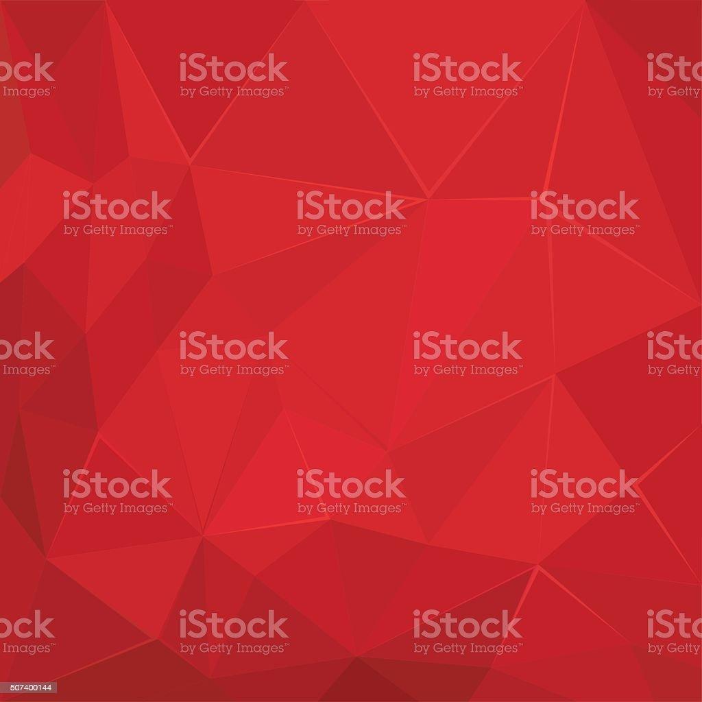 Poligonale Geometrico Astratto Sfondo Rosso Sfere Sfondo