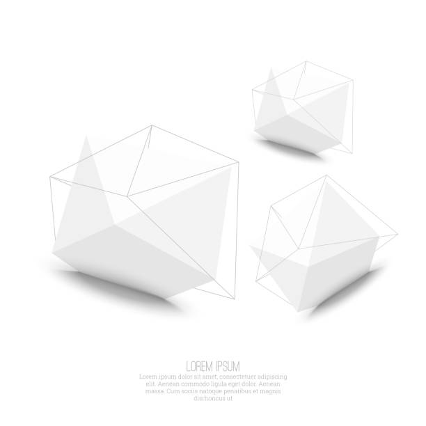 abstract polygonal geometric shape - abstract architecture stock illustrations