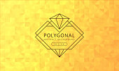 Abstract polygonal golden yellow background texture, golden yellow textured, banner polygon backgrounds, vector illustration for graphic design