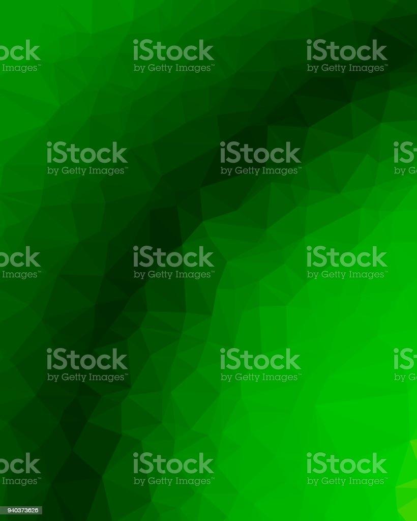Abstrakte polygonalen grünen Hintergrund – Vektorgrafik