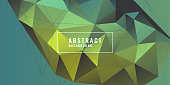 Abstract polygonal object in the background. Low poly design. Vector illustration