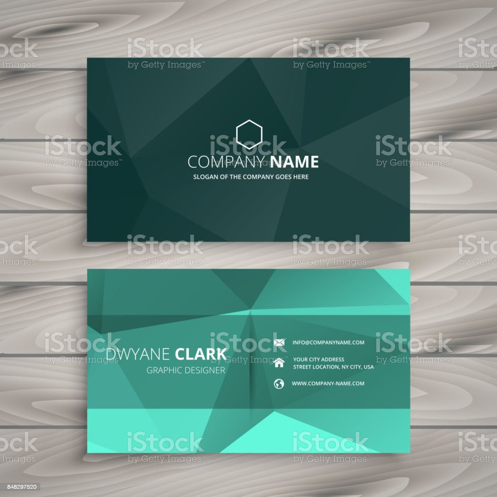 Rsum De Forme Polygonale Carte Visite Modle Vector Design Illustration
