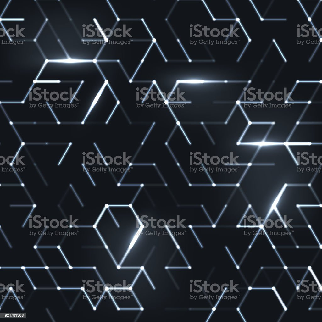 Abstract polygonal space vector art illustration