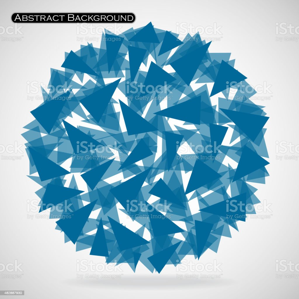 Abstract polygonal sphere with triangles. Vector illustration. Eps 10 vector art illustration