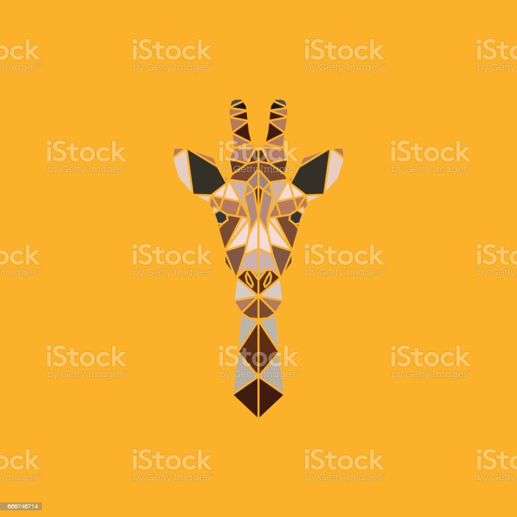 Abstract polygonal triangle giraffe. vector art illustration