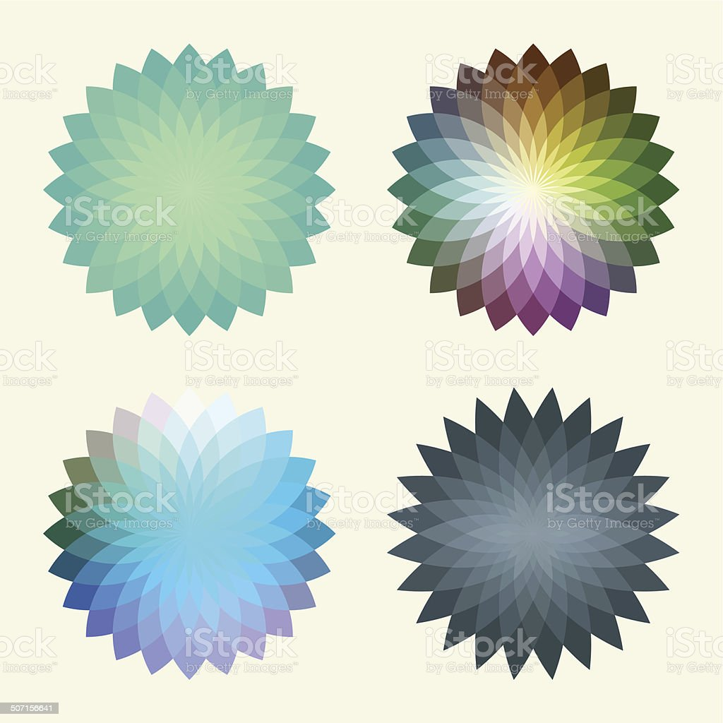 Abstract polygonal vector background  that reminds a flower. royalty-free abstract polygonal vector background that reminds a flower stock vector art & more images of abstract