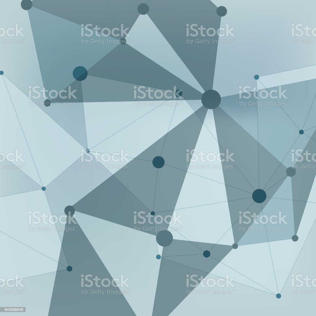 Abstract Polygonal With Connecting Dots And Lines Connection Science ...