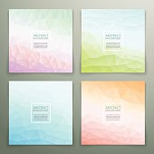 Abstract polygonal with square text background set. Trendy background with pastel colours.