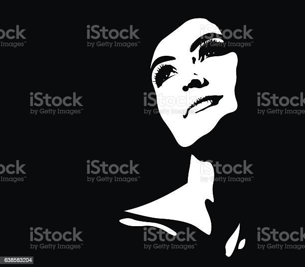 Abstract portrait of young pensive happy illuminated woman looking up vector id638583204?b=1&k=6&m=638583204&s=612x612&h=perf m2n0ct leq7  w5cy0oz rs9za70iv 4i99c7s=