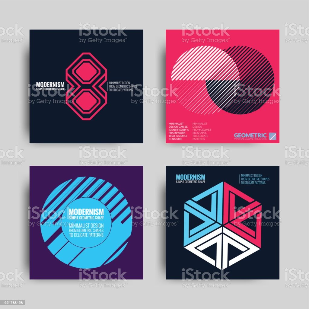Abstract Posers Art Graphic Backgrounds vector art illustration