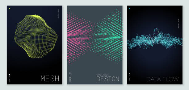 Abstract Poster Background with Copy Space vector art illustration