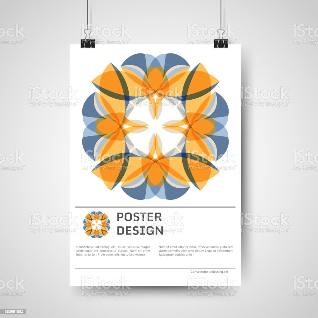 Abstract poster design vector art illustration